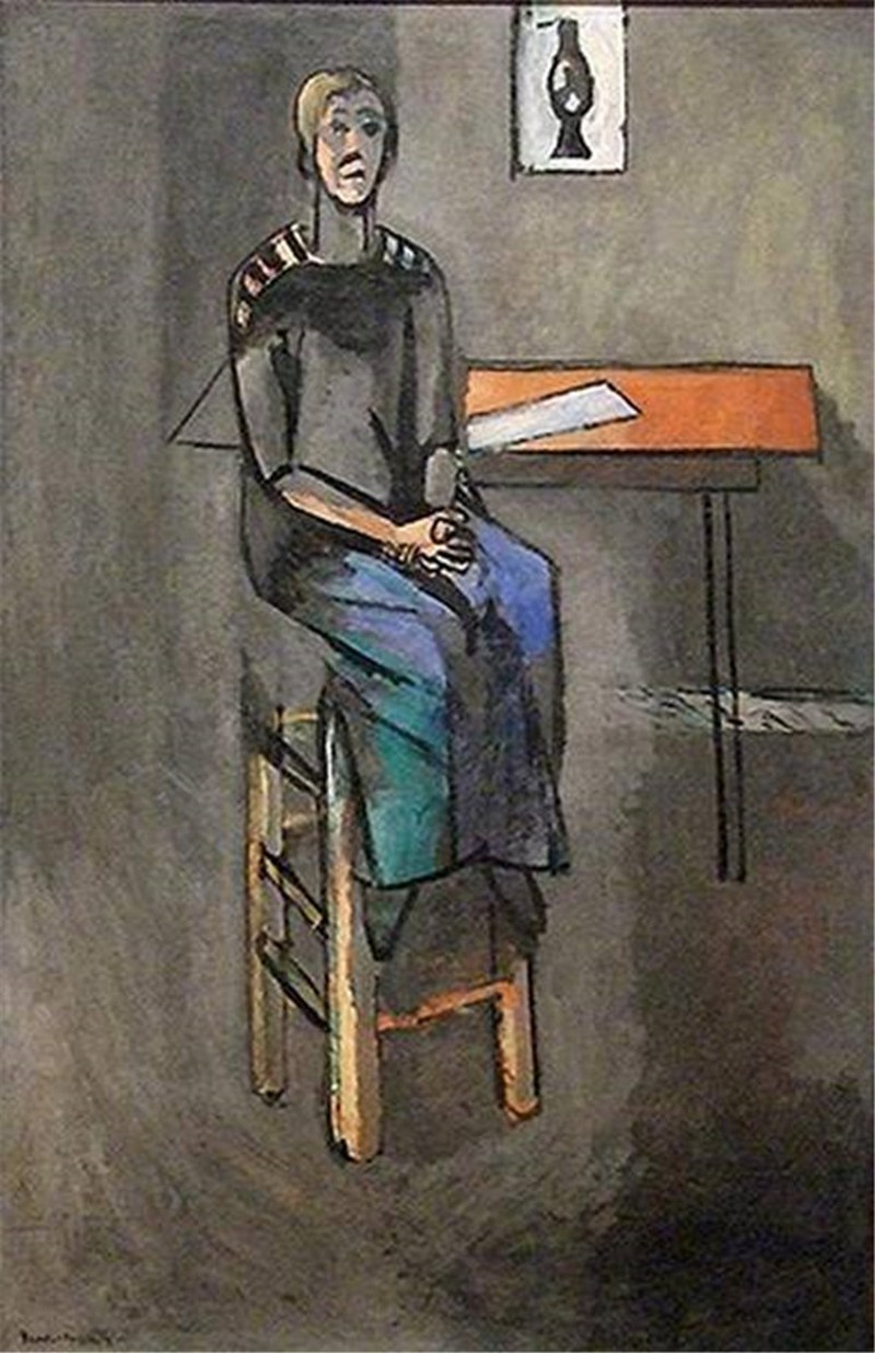 Bức tranh Woman on a High Stool.jpg