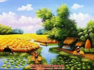 Hơn 30 mẫu tranh phong cảnh đồng quê đẹp