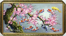 Tranh Cá Chép Phong Thủy Cửu Ngư