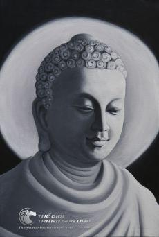 Tranh Sơn Dầu Vẽ Phật Trắng Đen Đẹp Giá Tốt Nhất Việt Nam