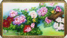 Tranh Phong Thủy Vườn Hoa Mẫu Đơn