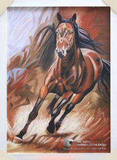 Tranh Sơn Dầu Vẽ Chú Ngựa Độc Hành Độc Đáo Giá Tốt Nhất TPHCM