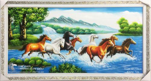 Tranh Mã Đáo Thành Công Ngựa Chạy Qua Phải