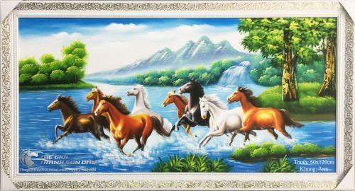 Tranh Mã Đáo Thành Công Ngựa Chạy Qua Trái