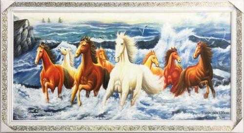 Tranh Mã Đáo Thành Công Ngựa Chạy Trên Biển