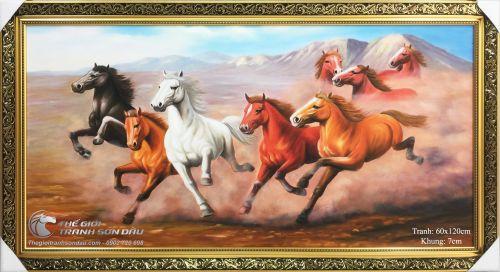 Tranh Mã Đáo Thành Công Ngựa Chạy Trên Đất