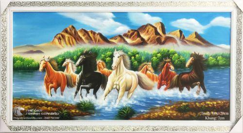 Tranh Mã Đáo Thành Công Ngựa Chạy Trước Núi