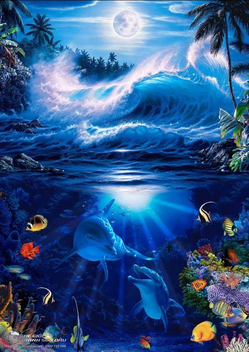 Tranh Phong Cảnh Đại Dương Bao La