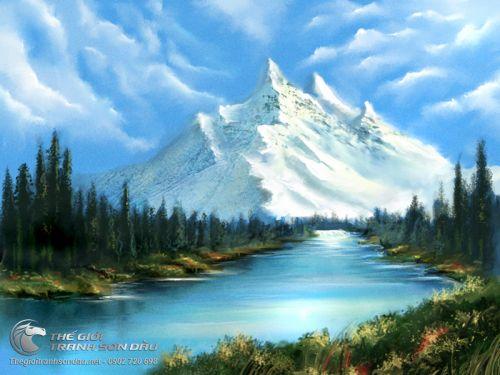 Tranh Phong Cảnh Núi Rừng Sông Suối Đẹp