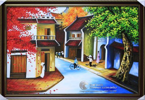 Tranh Sơn Dầu Phong Cảnh Phố Cổ Việt Nam