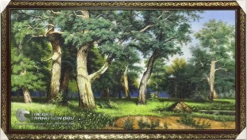 Tranh Sơn Dầu Vẽ Phong Cảnh Rừng Cây