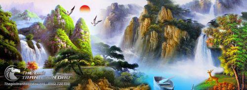 Tranh Sơn Thủy Cảnh Đẹp Thiên Nhiên Tuyệt Diệu