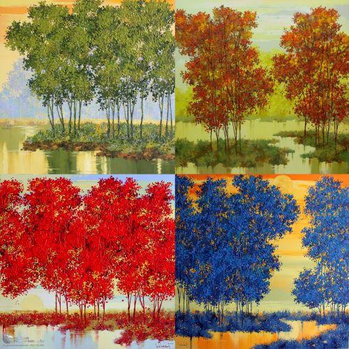 Tranh Vẽ Bốn Mùa Xuân Hạ Thu Đông Ấn Tượng