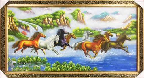 Tranh Vẽ Ngựa Đẹp Tặng Tân Gia Khai Trương Đẹp Giá Rẻ -30%